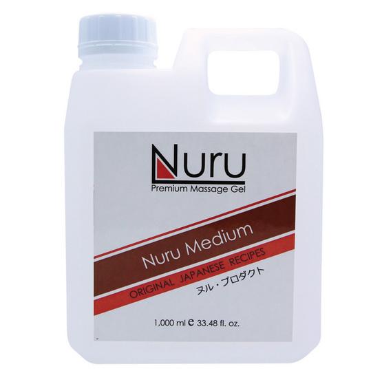 Nuru medium (นูรุ มีเดียม) เจลนวดตัวสำหรับบุรุษและสตรีให้ความลื่น นุ่มนวลในการนวด ขนาด 1000 มล.