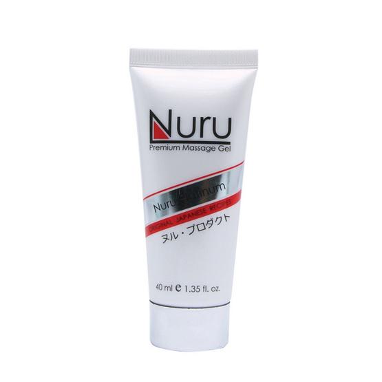 Nuru platinum (นูรุ แพทตินัม) เจลนวดตัวสำหรับบุรุษและสตรีให้ความลื่น นุ่มนวลในการนวด ขนาด 40 มล.