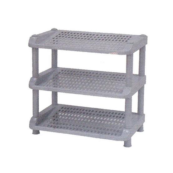 OA Furniture ชั้นวางรองเท้าพลาสติก 3 ชั้น No.251/3 - Dark Gray image