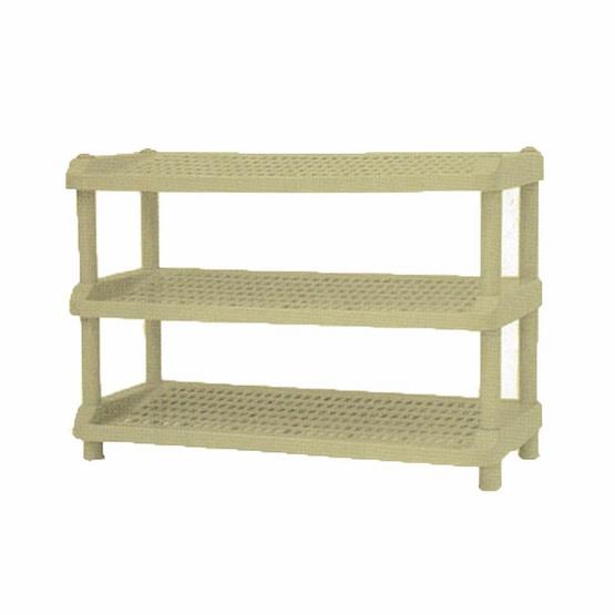 OA Furniture ชั้นวางรองเท้าพลาสติก 3 ชั้น No.254/3 - Cream