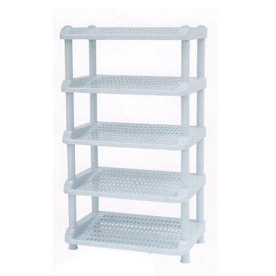 OA Furniture ชั้นวางรองเท้าพลาสติก 5 ชั้น No.251/5 - Blue gray