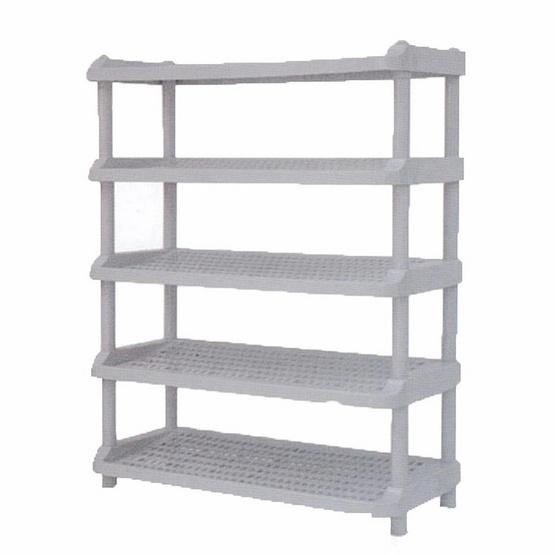 OA Furniture ชั้นวางรองเท้าพลาสติก 5 ชั้น No.254/5 - Dark-gray