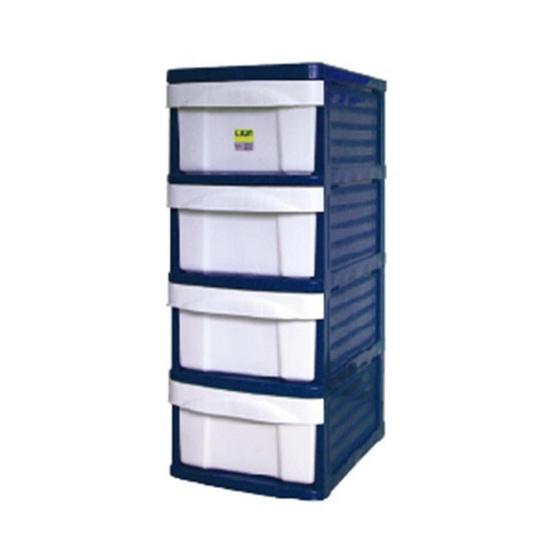 OA Furniture ตู้ลิ้นชักพลาสติก LION 4 ชั้น สีน้ำเงิน