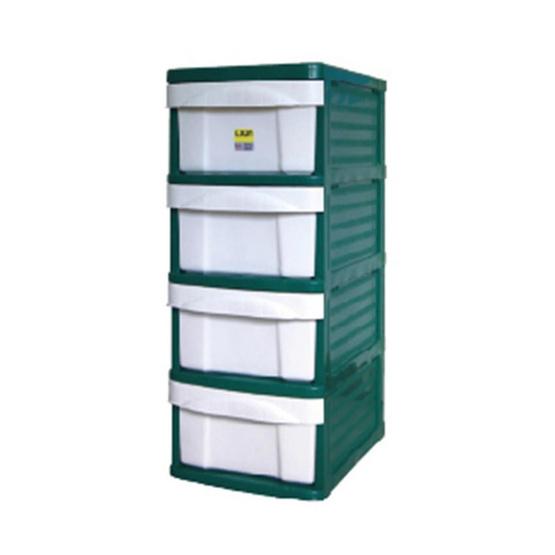 OA Furniture ตู้ลิ้นชักพลาสติก LION 4 ชั้น สีเขียว
