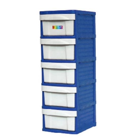 OA Furniture ตู้ลิ้นชักพลาสติก LION 5 ชั้น สีน้ำเงิน