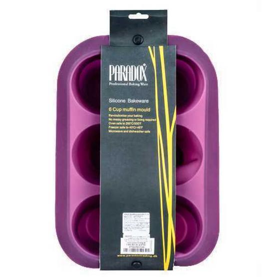PARADOX พิมพ์ซิลิโคนมัฟฟิน 6 หลุม สีม่วง