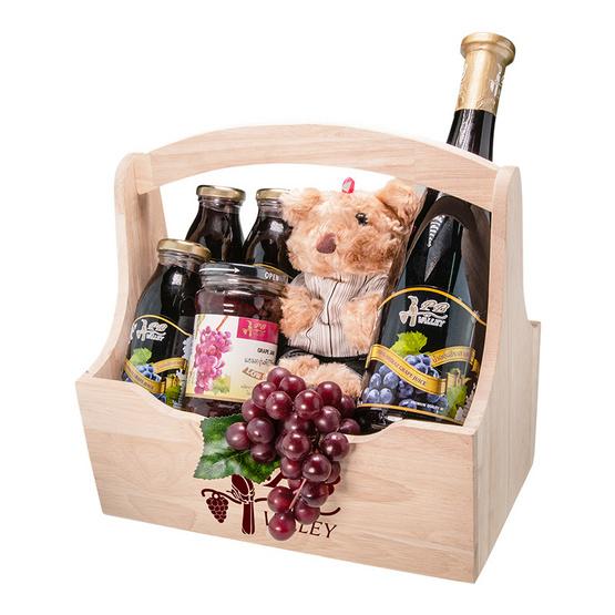 PB Valley by PBBC Set ของขวัญ Wonderful Grape A น้ำองุ่นชีราส 100%