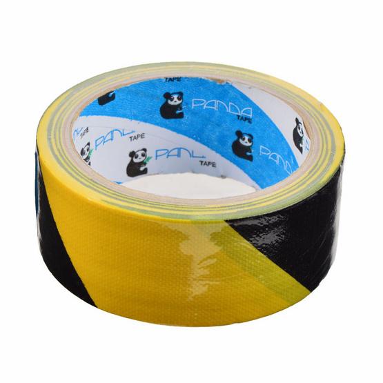 PandaTape เทปผ้าสะท้อนแสงเหลืองดำ 16 ม้วน