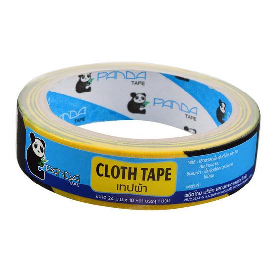 PandaTape เทปผ้าสะท้อนแสงเหลืองดำ 24 ม้วน