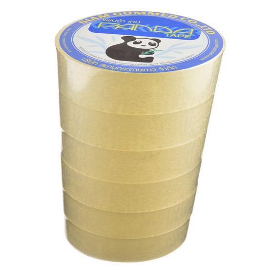 PandaTape เทปโอพีพีใส 6 ม้วน บรรจุ 24 แพ็ค/กล่อง