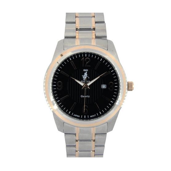 ซื้อ Paris Polo Club นาฬิกาข้อมือ รุ่น 3PP-1504222GT-BK สีดำ