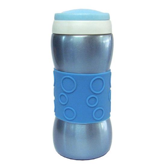 RRS กระติกเก็บความร้อนเย็น พร้อมที่กรองใบชา 280 มล. สีฟ้า