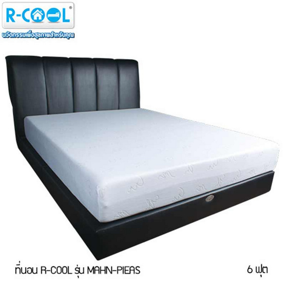 R-Cool ที่นอน รุ่น MAHN-PIEAS (6 ฟุต) แถมฟรี! Curve Pillow Large  2 ใบ