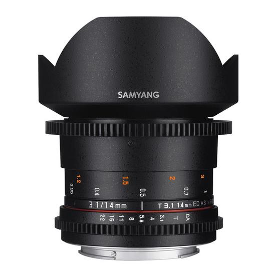 SAMYANG LENS 14MM T3.1 VDSLR II - CANON