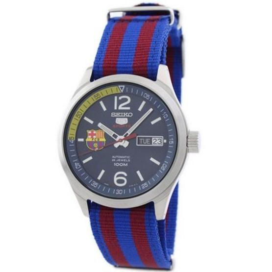 SEIKO นาฬิกาข้อมือ 5 FC Barcelona Special Edition SRP303K1