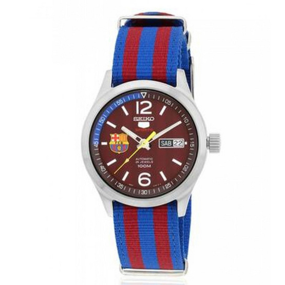 SEIKO นาฬิกาข้อมือ 5 FC Barcelona Special Edition SRP305K1