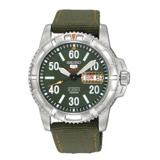 SEIKO นาฬิกาข้อมือ 5 Sports Automatic Millitary รุ่น SRP215K2
