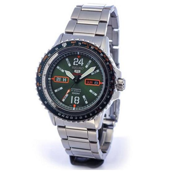 SEIKO นาฬิกาข้อมือ 5 Sports Aviator SRP349K1 แถมสายผ้านาโต้ (พิเศษ ผ่อน 0% 4เดือน หรือ 6เดือน)