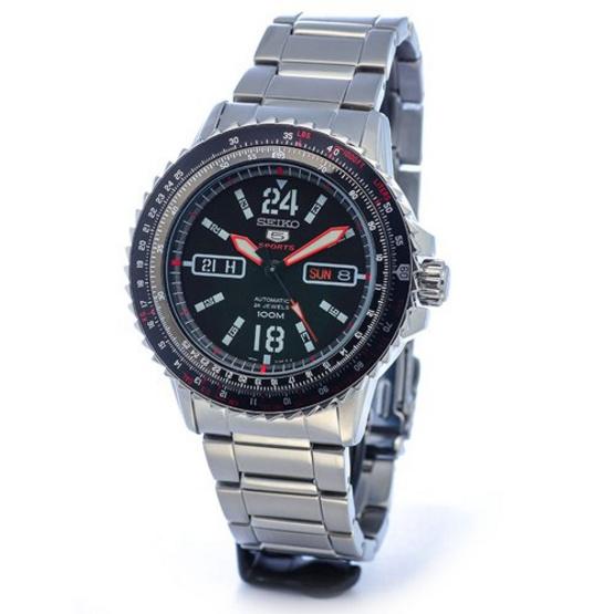 SEIKO นาฬิกาข้อมือ 5 Sports Aviator SRP353K1 แถมสายผ้านาโต้ (พิเศษ ผ่อน 0% 4เดือน หรือ 6เดือน)