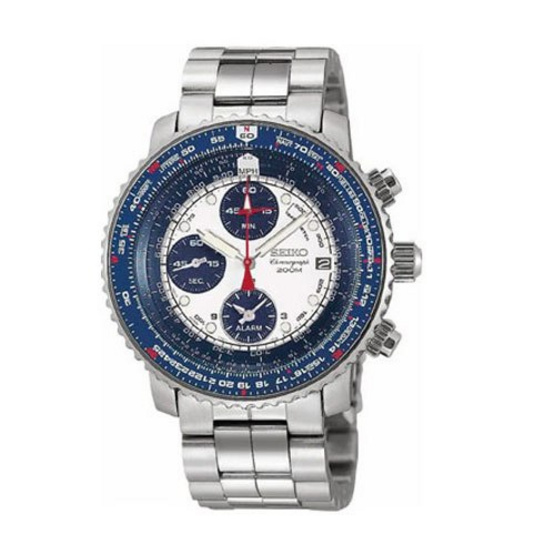 SEIKO นาฬิกาข้อมือ Flight Alarm Chronograph Pilot'S Watch รุ่น SNA413P1