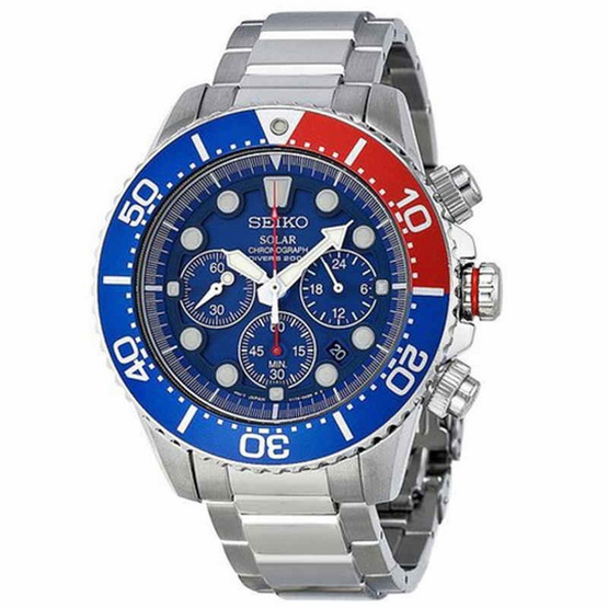 SEIKO นาฬิกาข้อมือ Prospex Solar Diver Chronograph Watch SSC019P1