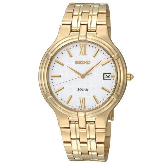 SEIKO นาฬิกาข้อมือ Solar Men Watch SNE030P1 (พิเศษ ผ่อน 0% 4เดือน หรือ 6เดือน)