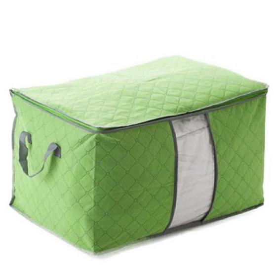ซื้อ SSC กระเป๋าจัดเก็บเสื้อผ้า ผ้าห่ม และผ้านวม (สีเขียว)
