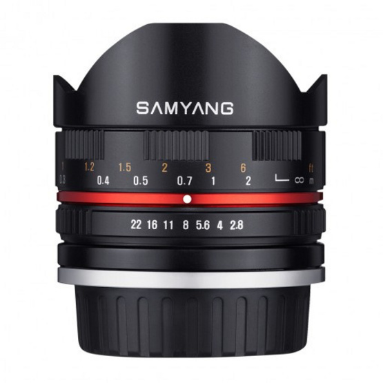 Samyang Lens 8mm / F2.8 II Sony E Black