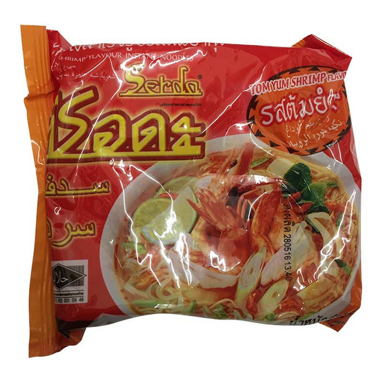 Serda ซือดะ บะหมี่กึ่งสำเร็จรูป รสต้มยำกุ้ง (ซอง) ขนาด 60 g. (30 ชิ้น)