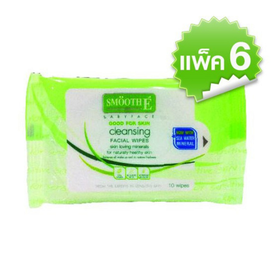 Smooth E Cleansing Wipesx6