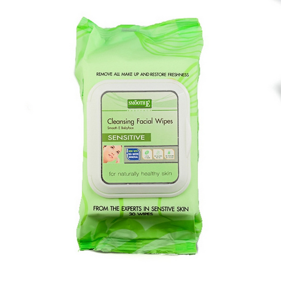 Smooth E Facial Cleansing Wipe 30 Sheets