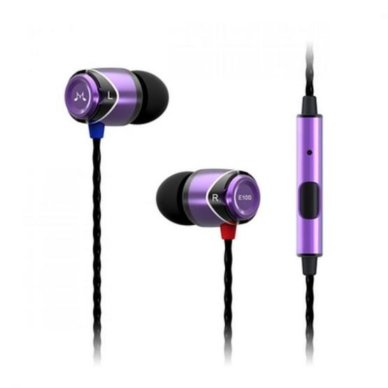 Soundmagic หูฟัง รุ่น หูฟังอินเอียร์มีไมค์ (E10S) Purple
