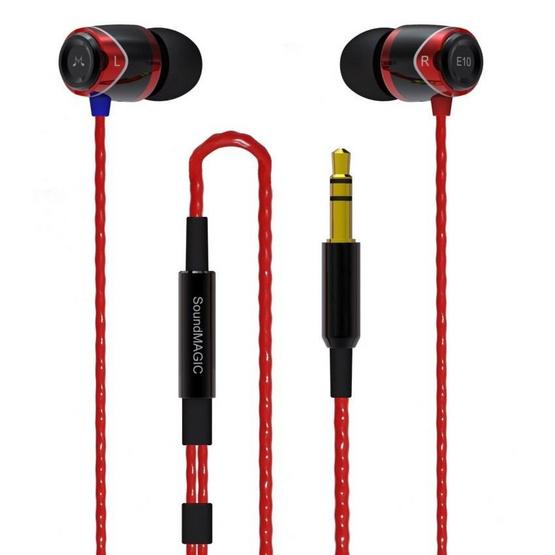 Soundmagic หูฟัง รุ่น หูฟังอินเอียร์ (E10) Red