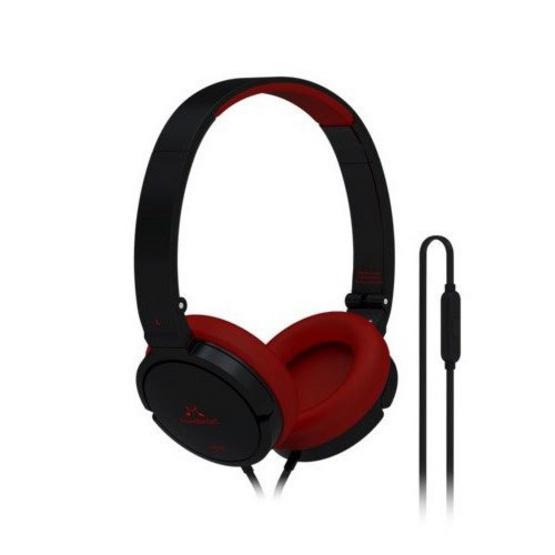 Soundmagic หูฟัง รุ่น Headphone Portable มีไมค์ในตัว (P21S) Black/Red