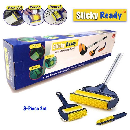Sticky Ready ลูกกลิ้งทำความสะอาด แบบล้างแล้วใช้ซ้ำได้ (เซ็ต 3 ชิ้น)