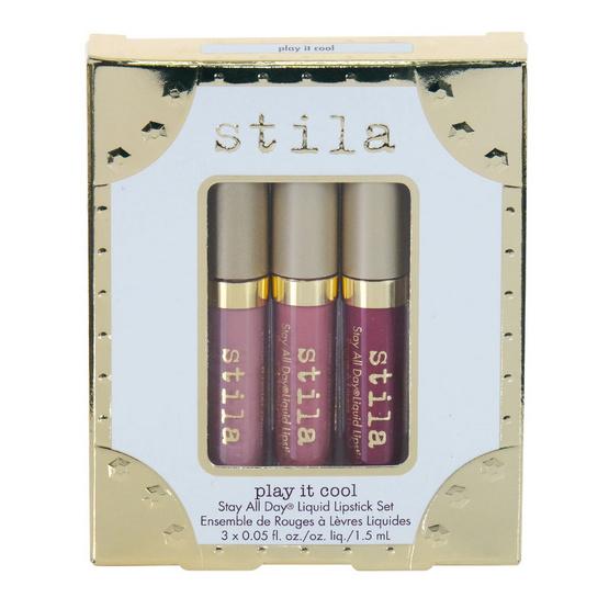 ส่งฟรี !! Stila Play it cool Stay All Day Lipstick Set - Stila, ผลิตภัณฑ์ความงาม