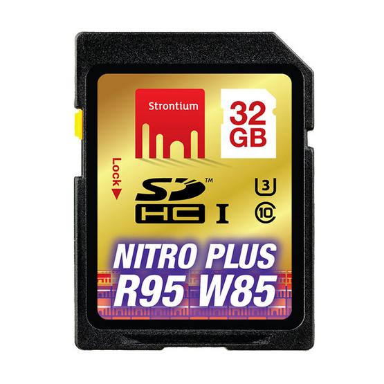 Strontium Nitro Plus USH-1 U3 SD Card Class10 32 GB (R80/W60)
