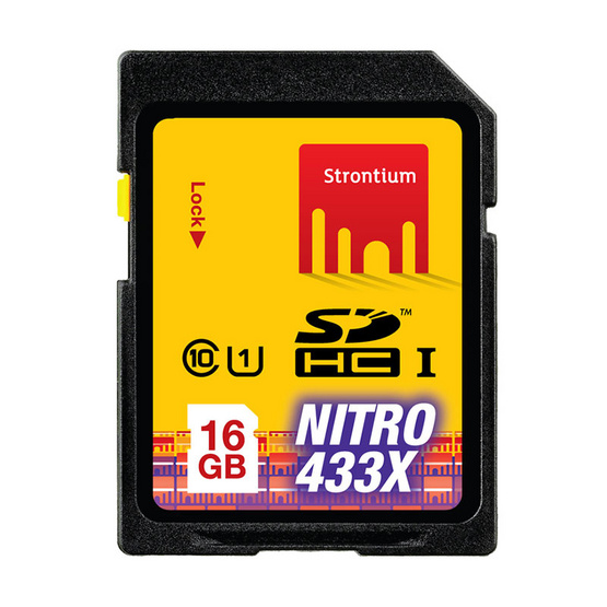 Strontium Nitro USH-1 SD Card Class10 16 GB 433X Speed (65Mb/S)