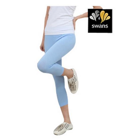 Swans กางเกงหญิงขายาวเลคกิ้ง-ฟ้า