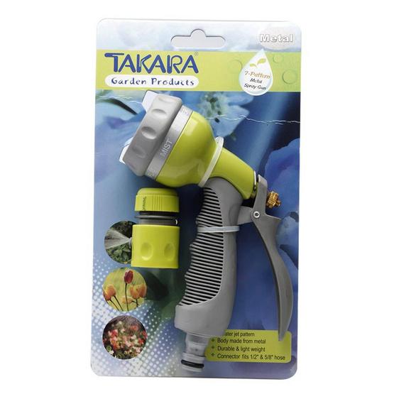 TAKARA DGT2007 หัวฉีดน้ำทาการ่า(เหล็ก)ปรับน้ำ 7 รูปแบบ
