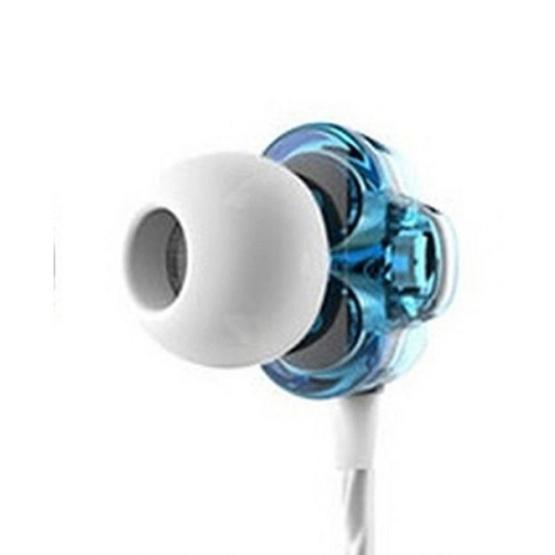 TTPOD หูฟัง รุ่น In Ear หูฟังแบบสอดหู 2 ไดรเวอร์ (T1) Blue