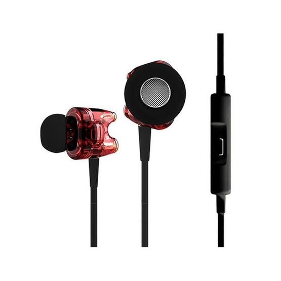 TTPOD หูฟัง รุ่น หูฟังอินเอียร์มีไมค์ (T1S) Red