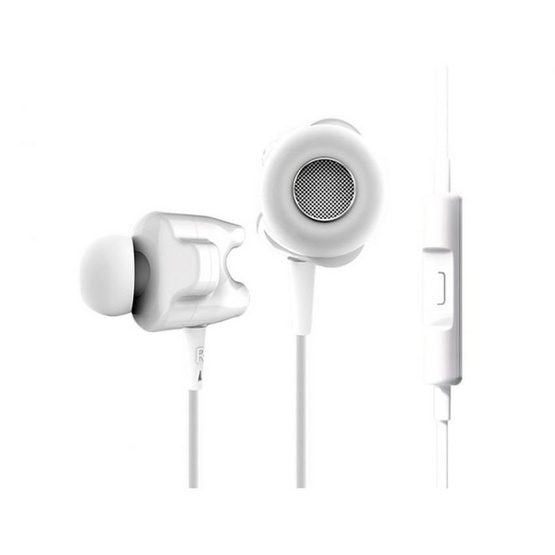 TTPOD หูฟัง รุ่น หูฟังอินเอียร์มีไมค์ (T1S) White