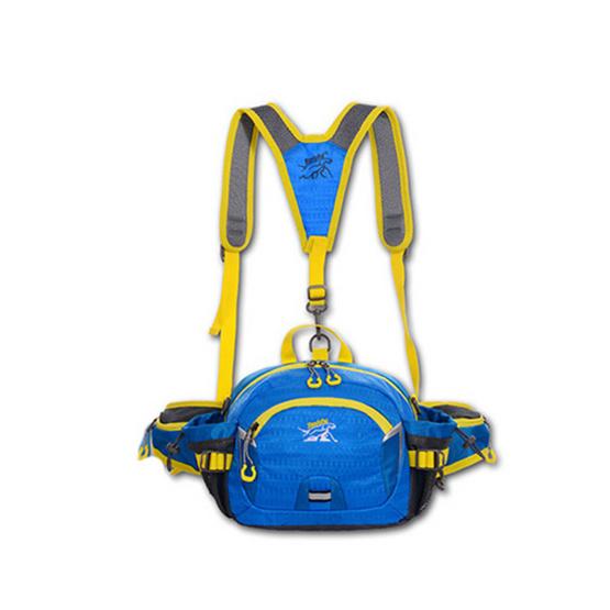 Tanluhu กระเป๋าคาดเอว สีฟ้า