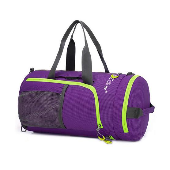 Tanluhu กระเป๋าเดินทางเดินทางอเนกประสงค์พับได้ ม่วง