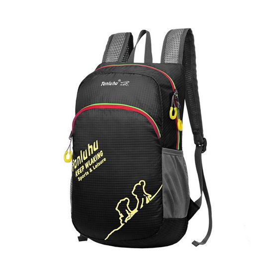 Tanluhu กระเป๋าเดินทางเป้ปีนเขา Backpack สีดำ