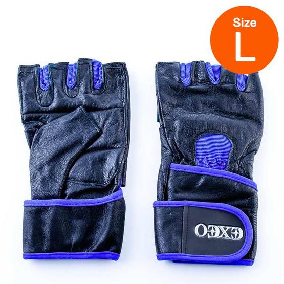 Thai Sports ถุงมือยกน้ำหนัก หนัง CG-17053 ROYAL BLUE/BLACK ไซส์ L รหัสสินค้า E3XT1101L