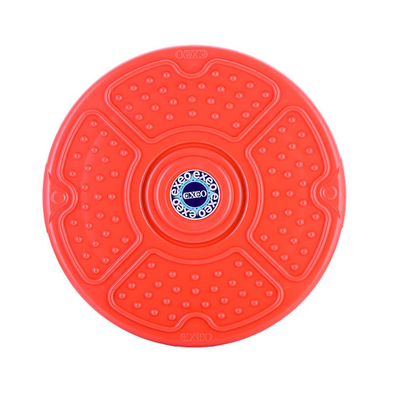 Thai Sports จานทวิสต์ เอ็กซิโอ (Disco Twister) ขนาด 12 นิ้ว ปุ่มดอกไม้ สีแดง รหัสสินค้า E3X4T105
