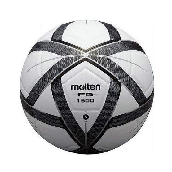 Thai Sports ฟุตบอล Molten หนังพีวีซี (PVC) ขนาดและน้ำหนักมาตรฐาน เบอร์ 5 สีขาว/ดำ/เทา รหัสสินค้า B2AF5G1500