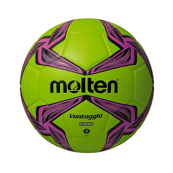 Thai Sports ฟุตบอล Molten หนังพีวีซี (PVC) หนังอัด ขนาดและน้ำหนักมาตรฐาน เบอร์ 5 สีเขียว/ชมพู/ดำ รหัสสินค้า B2AF5V1500GP